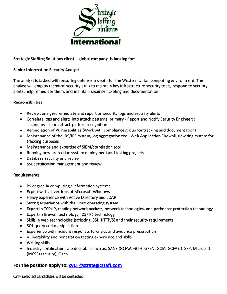 security analyst resume 3223