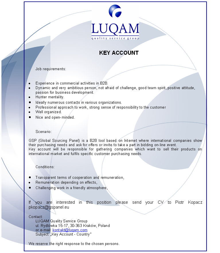 CV Market´s client Key Account Manager