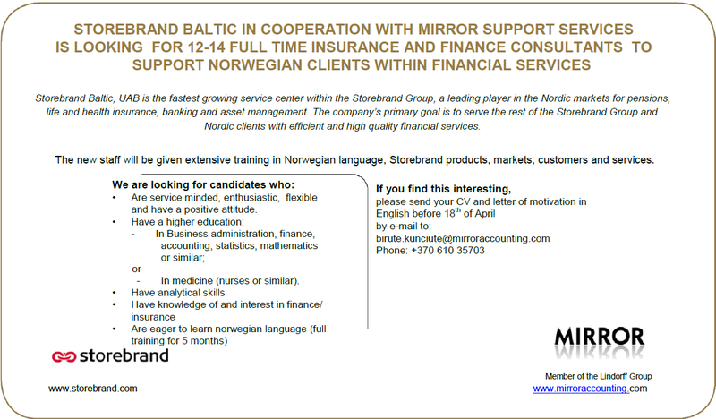 CV Market´s client Insurance and finance consultants