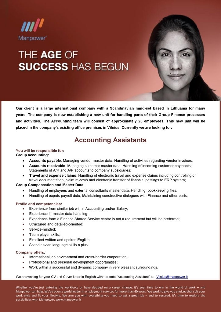 CV Market´s client Accounting Assistants