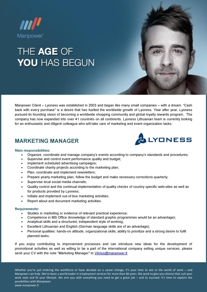 CV Market´s client Marketing Manager
