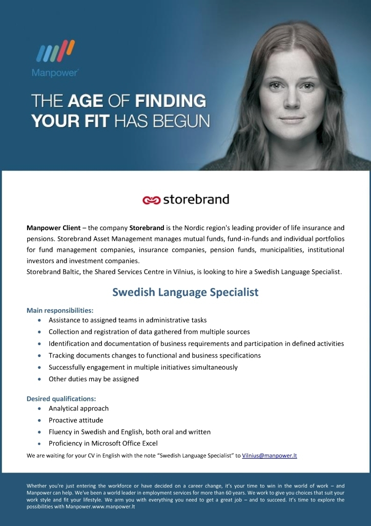CV Market´s client Swedish Language Specialist